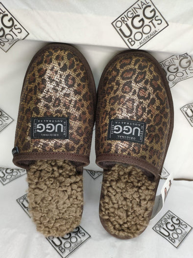Gold Leopard Naki UGG Scuffs (Aus ladies 5)