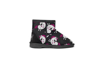 Unicorn Kids UGG Boots Black