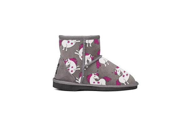 Unicorn Kids UGG Boots Grey