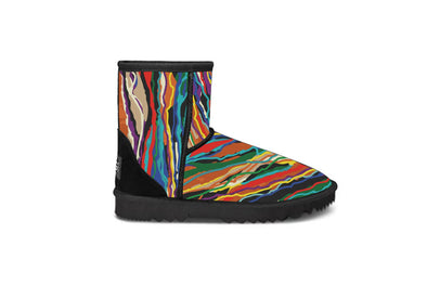 Rainbow Line Black Short UGG Boots