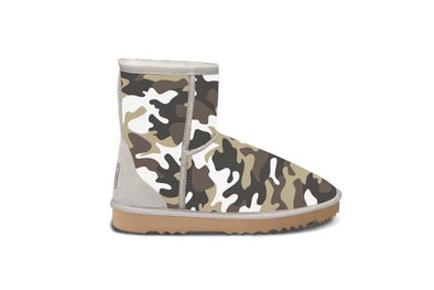 White Camo Short UGG Boots