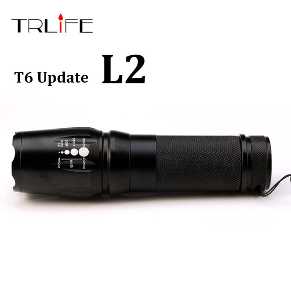 2017 New Tactical Flashlight E97 X800 CREE XM-L L2 5000 Lumens led Torch Zoomable LED light Lamp by 3xAAA or 1x18650 or 26650