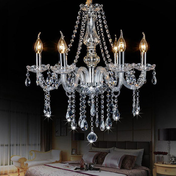 Luxury Clear Glass Chandeliers Lamp  Lustres De Cristal Lamp Hotel Lighting