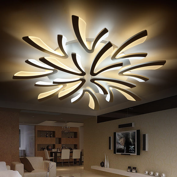 NEO Gleam Acrylic thick Modern led ceiling chandelier lights for living room bedroom dining room home Chandelier lamp fixtures