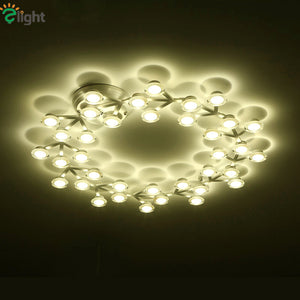 Nordic Simple Plum Blossom Led Ceiling Chandeliers Lustre Acrylic Aluminium Led Chandelier Lighting Bedroom Led Chandelier Light