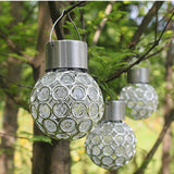 Innovative Solar Ball Hanging LED Lamp Outdoor Color Changing Walkway Landscape Light Garden Decorative Night Lights Chandelier