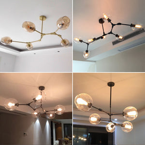 lamp globe glass chandelier lamp Branching Bubble Modern Chandelier Light for kitchen cafe store lighting cloth shop chandeliers