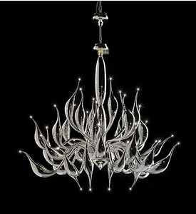 Italy Swan Chandelier Modern Murano Chandeliers Creative Art Glass chandelier Light 32 Head (18 kinds of Color)Free shipping