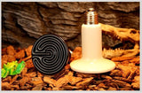 110V Ceramic Infrared Emitter Heat Lamp Grow Plant Lamp Zoo Turtle Pet Reptile Heater,  Ceramic Infrared Heater Lamp Bulb