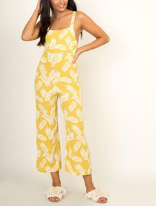 Grow After Your Dreams Palm Leaf Jumpsuit