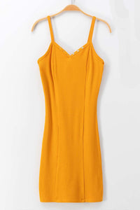 Sunflower Ribbed Bodycon Dress