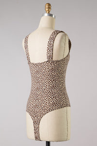 Stay Together V Cut Bodysuit (Leopard)