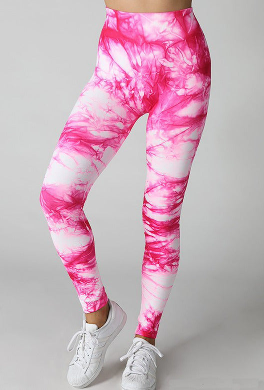 Bright Fuchsia Seamless Leggings