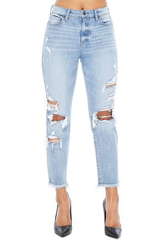 Tobi Super High Rise Distressed Jeans