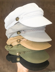 Khaki Sailor Hat