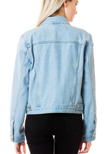 Light Wash Distressed Denim Jacket