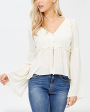 Ivory Bell Sleeve Top