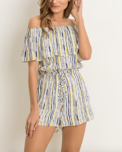 Multi Colored Striped Romper