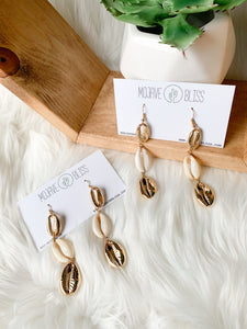 Rest a Shore Seashell Earrings (Gold)