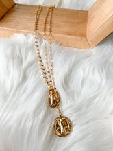 Coin Drop Layered Necklace