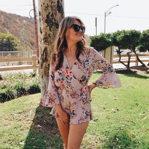 Call You in a Flower Long Sleeve Romper