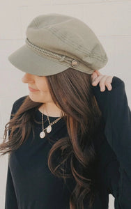Olive Sailor Hat