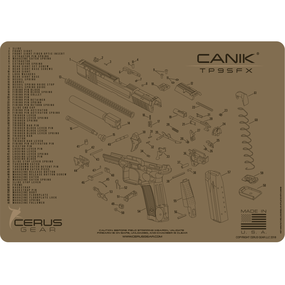 FDE Maintenance Pad for CANIK TP9