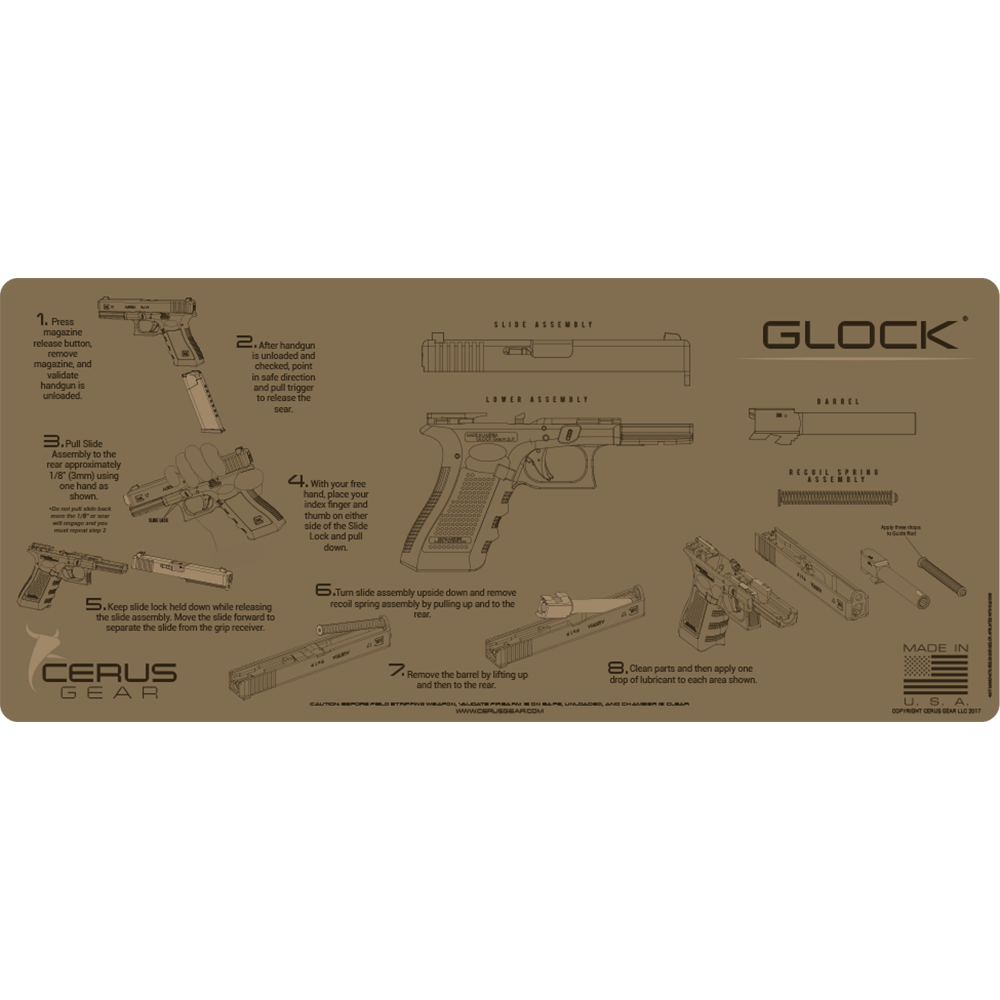 Flat Dark Earth Glock Maintenance Pad
