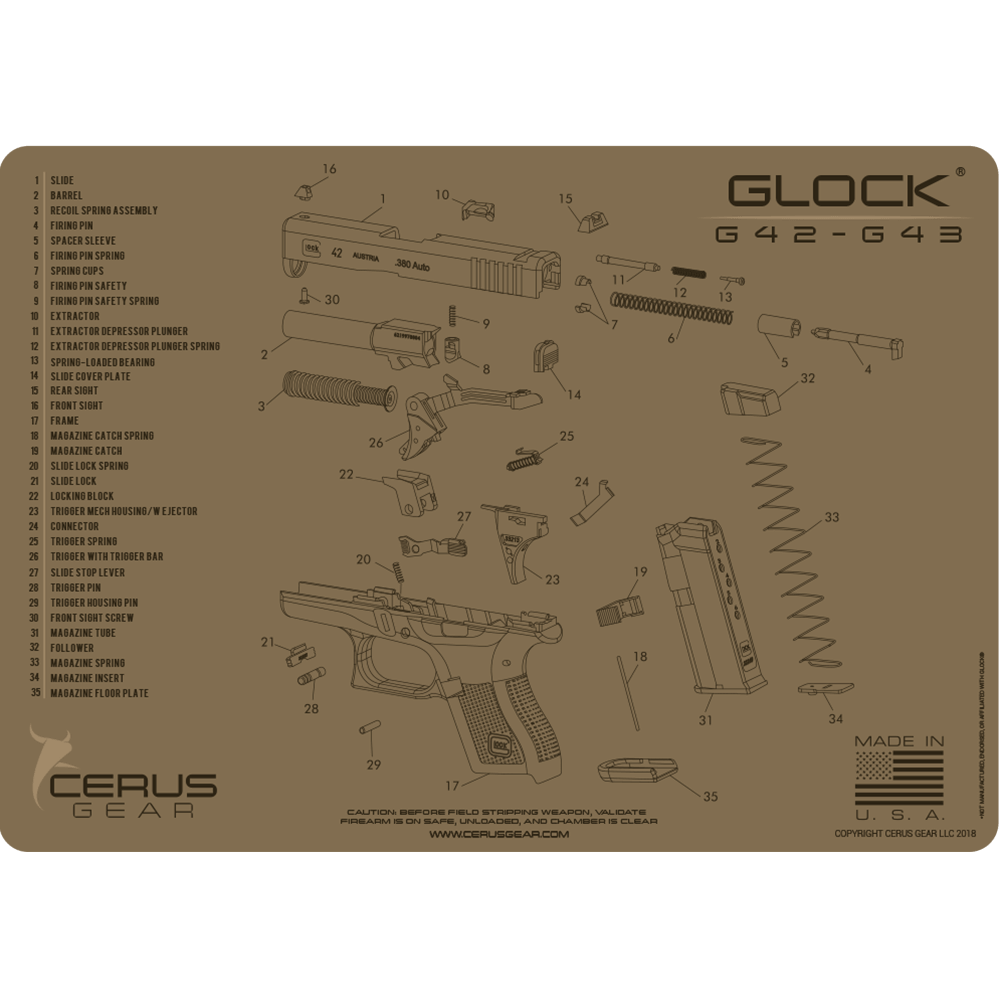 Glock 174 42 43 Schematic Promat Clean Your Ccw Like A Pro