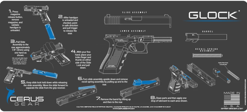 Directions to Clean Glock Firearm