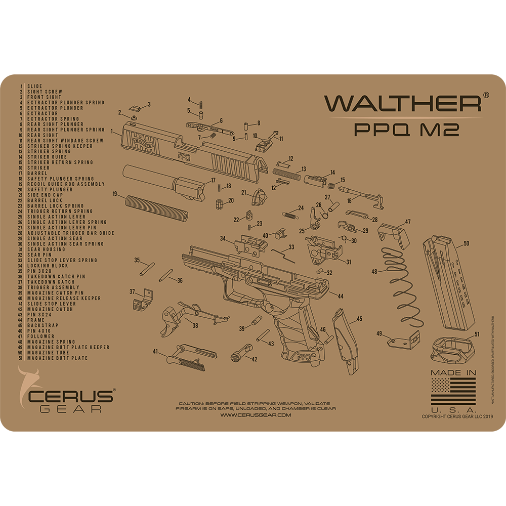 Walther® PPQ M2 Schematic ProMat