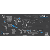 How to take down 1911 and reassemble gun cleaning mat