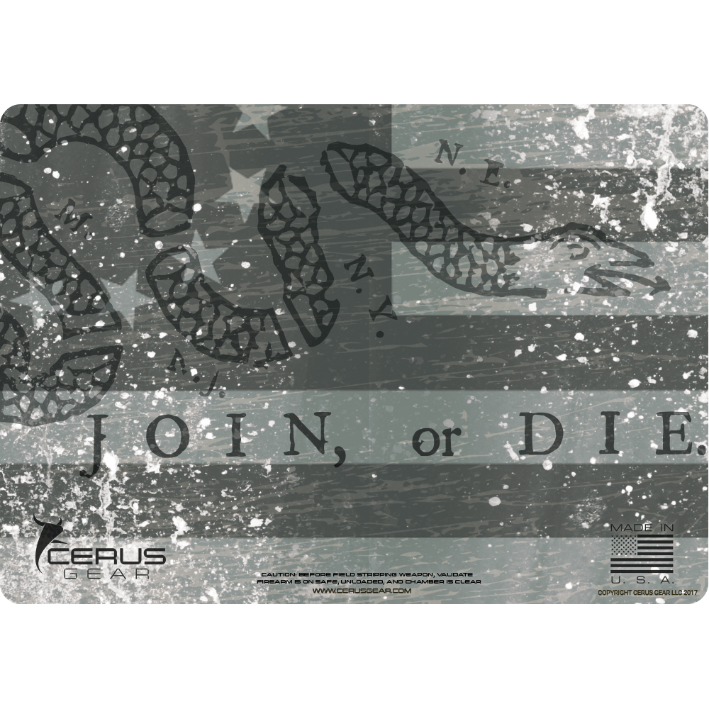BEST JOIN OR DIE PISTOL CLEANING MAT