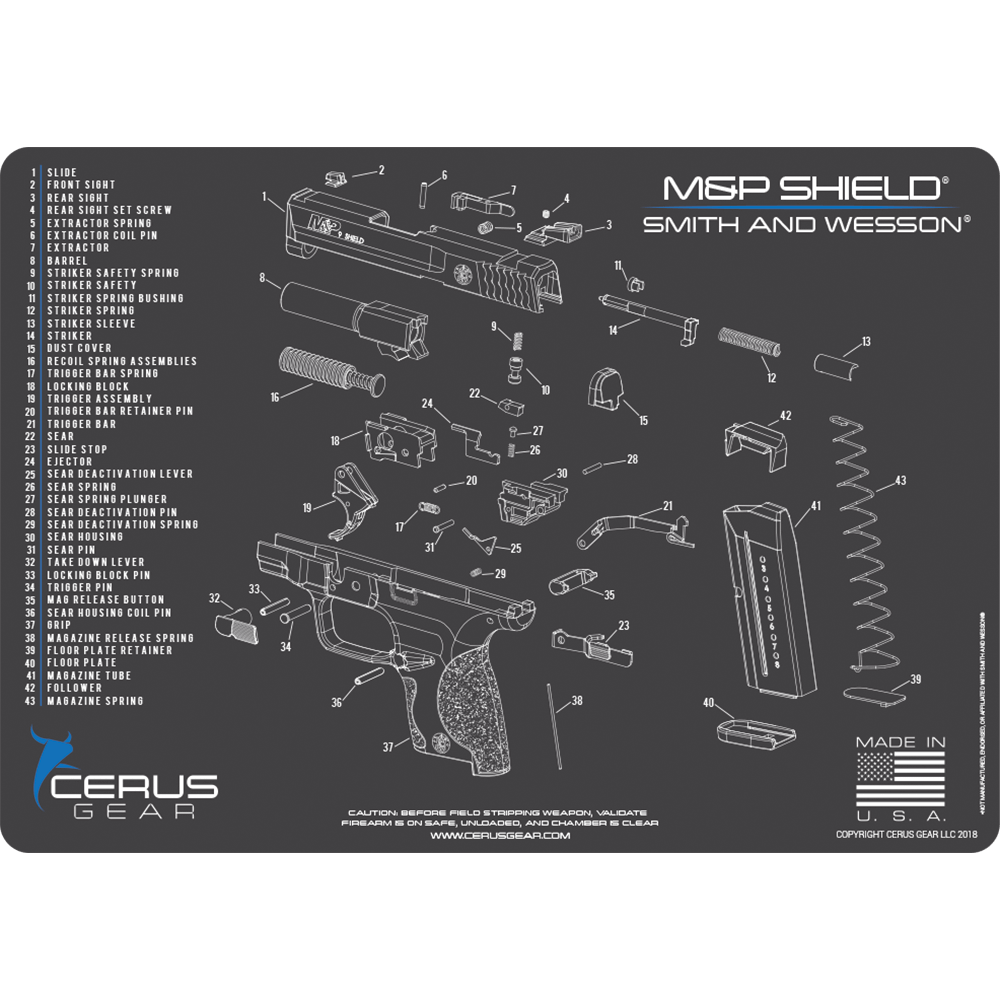 Best M&P Shield Schematic Maintenance Pad