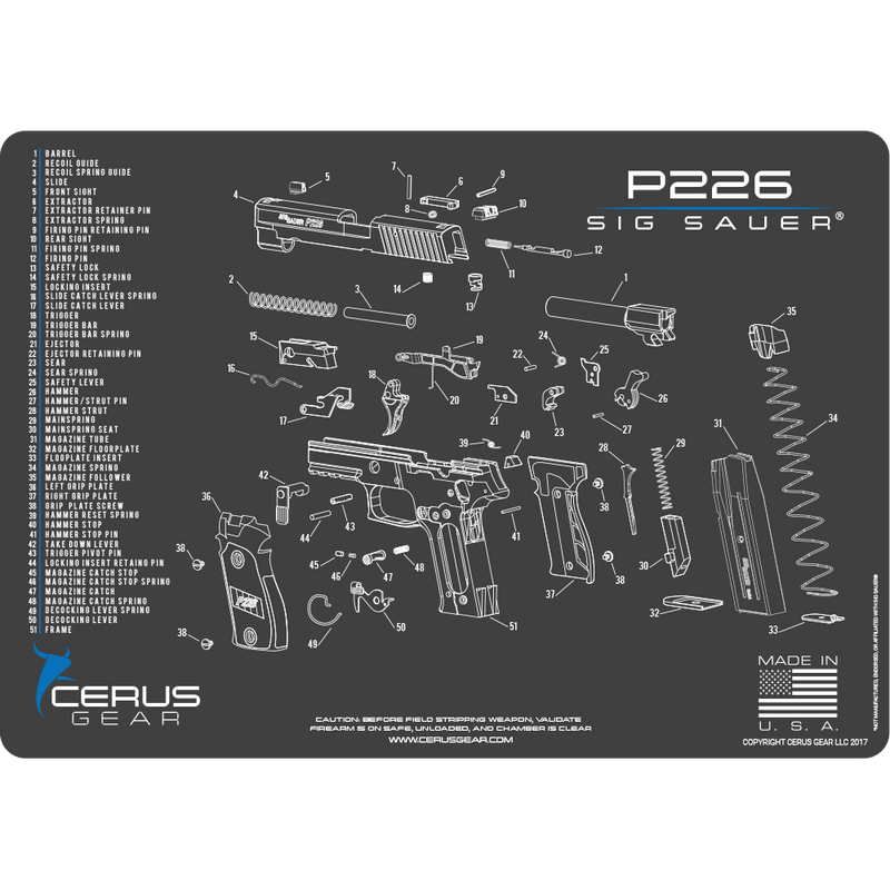 Best Sig 226 Image Schematics Pistol Maintenance Pad