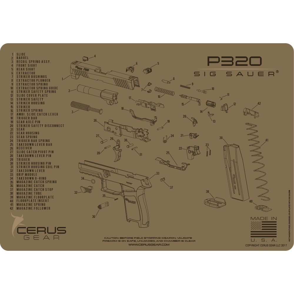 Best Looking Sig P320 Cleaning Mat