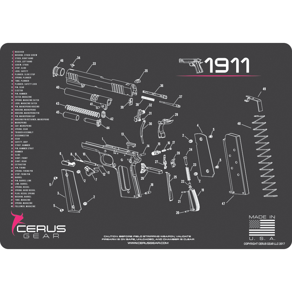 1911 Schematic Promat Clean Your Classic 1911 With