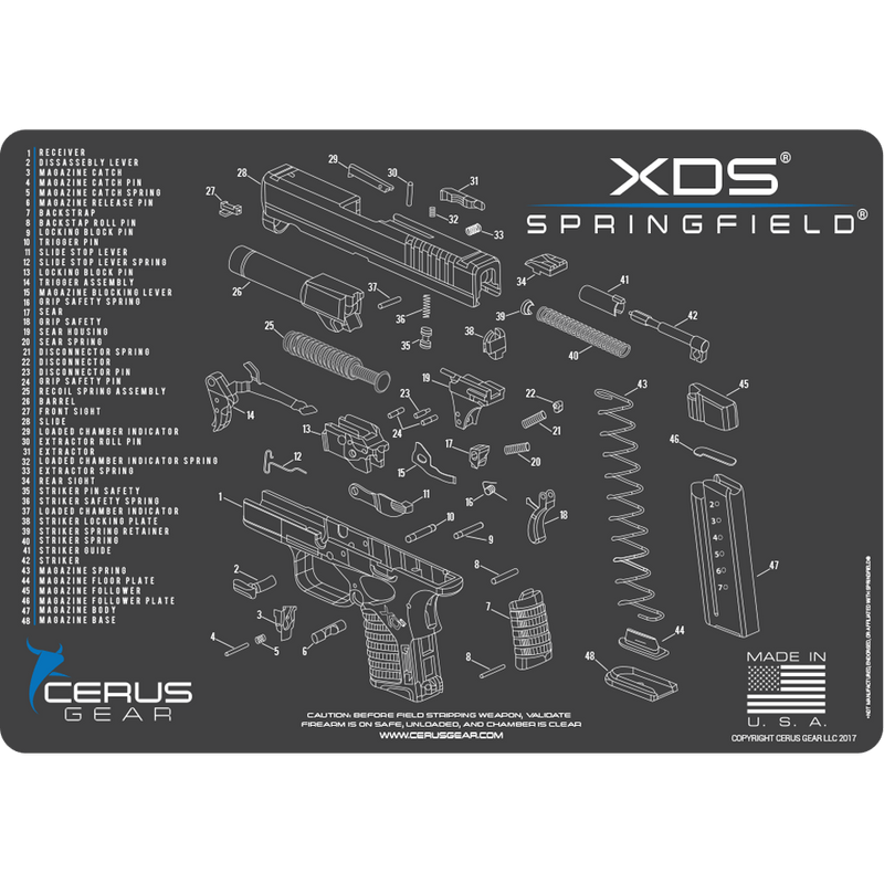BEST SPRINGFIELD XDS CLEANING MAT