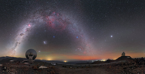 Stargazing Milky Way Arches over La Silla Observatory in Chile