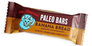 Blue Dinosaur Paleo Bar Banana Bread