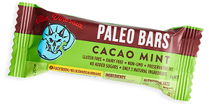 Blue Dinosaur Paleo Bar Cacao Mint