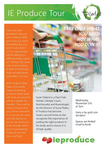 IE Produce Tour with Susie from Suna Pilates - Wed Nov 21st