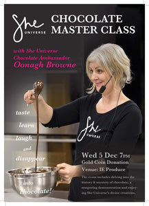 She Universe Chocolate Master Class w She Universe Choc Ambassador Oonagh Browne