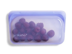 Stasher Reusable Silicone Snack Bag 293.5ml (colour choices will vary)