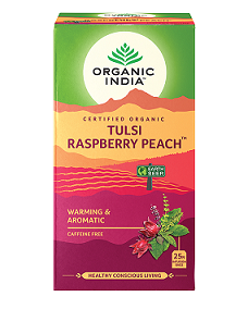 Organic India Tulsi Raspberry Peach 25tbags