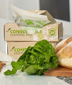 COMPOSTABLE ZIP LOCK BAGS