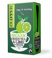 Clipper Organic Fairtrade Green Tea with Lime and Ginger 20tbags