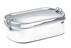 Stainless Steel Large Oval Lunchbox 22.5x13.5x7