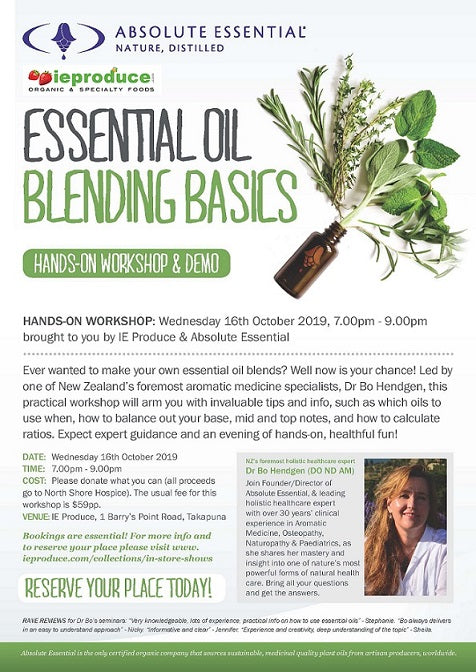 Absolute Essential Oils Essential Oil Blending Basics