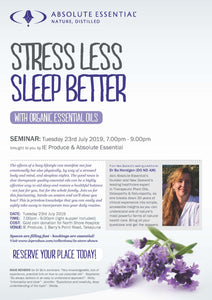 Stress Less Sleep Better with Organic Essential Oils